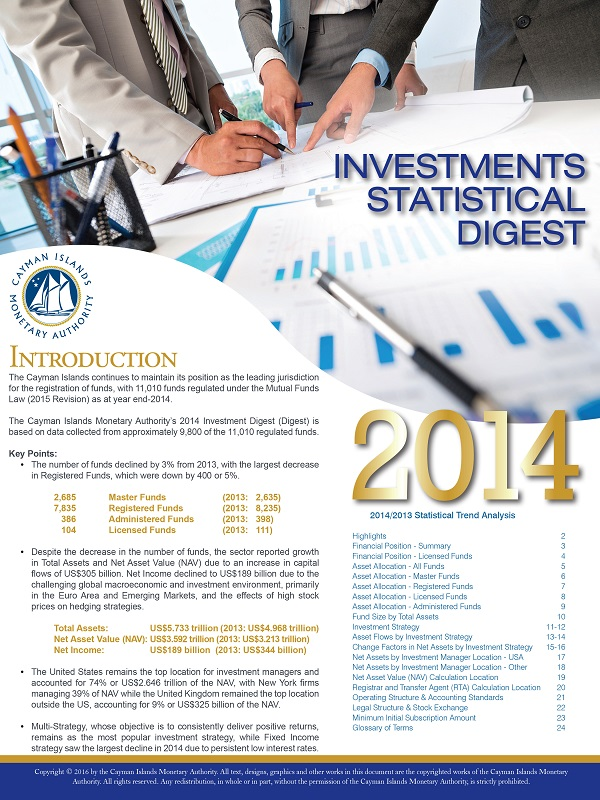 Investments Statistical Digest 2014