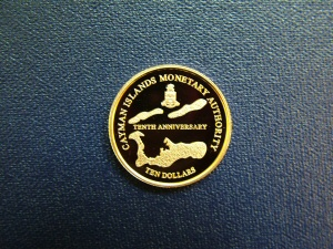 The Cayman Islands Monetary Authority 10th Anniversary Coin (Gold)
