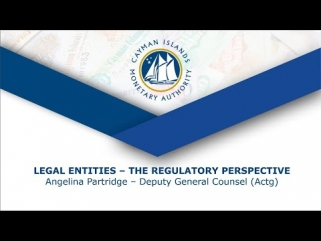 Legal Entities - The Regulatory Perspective