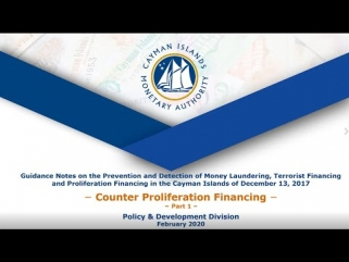 Guidance Notes on ML, TF & PF & CPF: Proliferation Finance